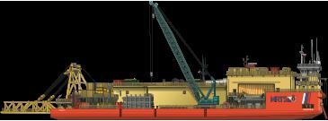 Трубоукладочная баржа «Капитан Булганин»
